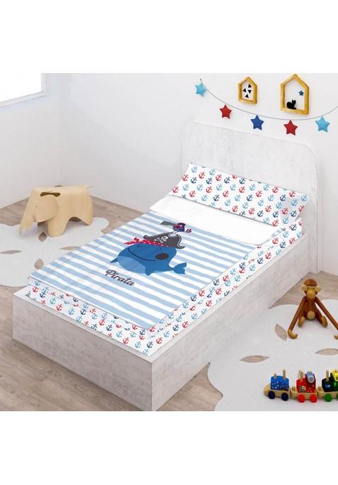 Prêt à Dormir Zippé et Extensible Coton DESSIN PLACÉ - PIRATE