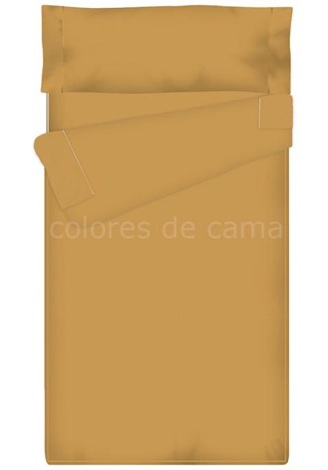 Prêt à dormir Zippé et Extensible UNI SABLE - 180 x 210 x 10 cm - soufflet d'aisance 2 personnes et avec couette 100 gr/m2