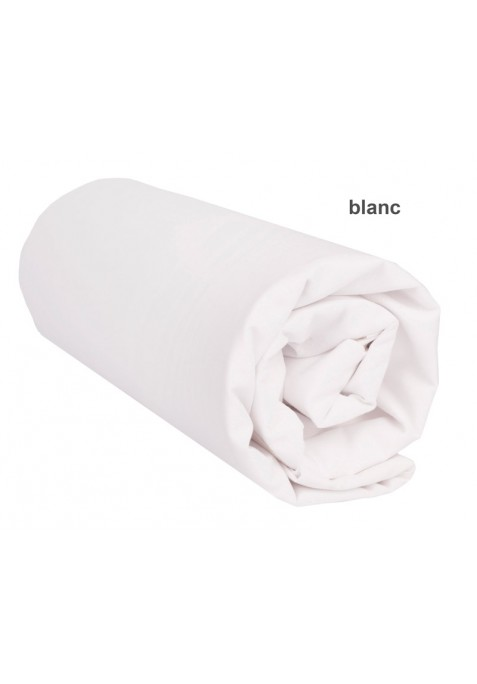 Drap Housse UNI BLANC Pur Coton