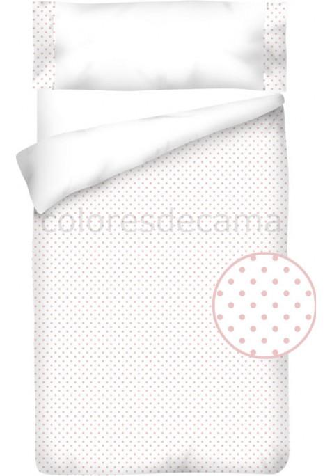 Housse de Couette Coton et Piqué – TOPOS ROSE