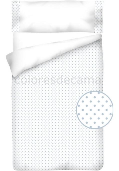 Housse de Couette Coton et Piqué – TOPOS BLEU