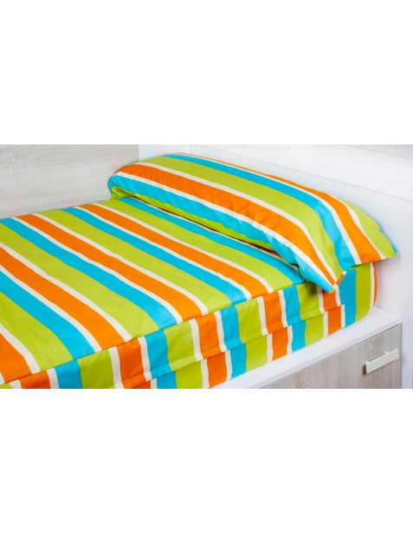 pr t dormir extensible et zipp face orange. Black Bedroom Furniture Sets. Home Design Ideas