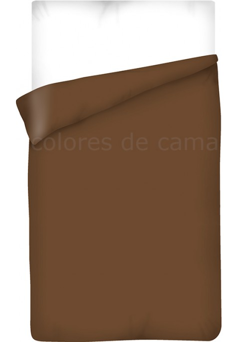 Housse de Couette MARRON CHOCOLAT UNIE