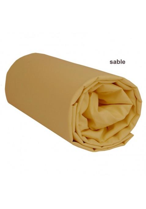 Drap housse zippé de remplacement pour Prêt à Dormir UNI SABLE - 140 x 200 x 15 cm - Avec Formes Spéciales