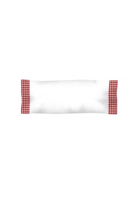 Taie D'oreiller Avec 2 ouvertures Coton et VICHY CARRÉ ROUGE- 50 x 70 cm