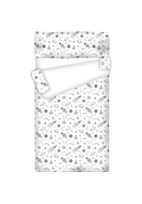Prêt à Dormir Zippé et Extensible Coton FUSÉES - 75 x 210 x 9 cm - Couette 250 gr/m2