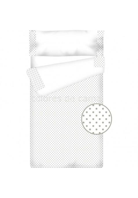 Prêt à dormir Zippé et Extensible Coton et Piqué TOPOS GRIS - 75 x 190 cm - avec forme spéciale et couette 100gr/m2