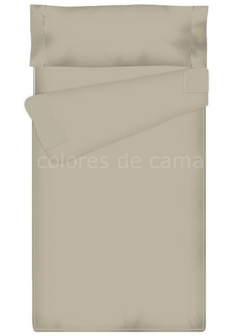 Prêt à dormir Zippé et Extensible - UNI GRIS - 135 x 200 x 10 cm - Avec Forme Spéciale - Couette 4 saisons