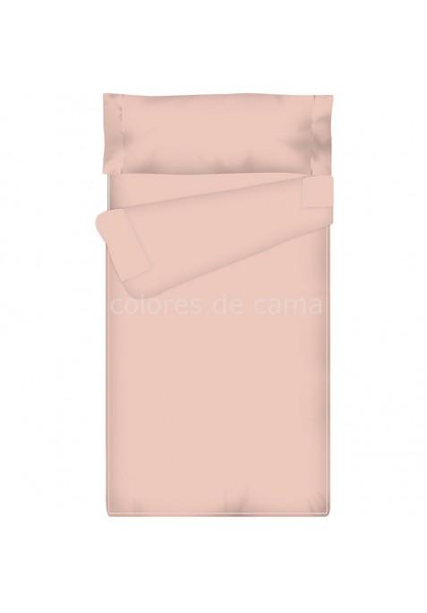 Prêt à dormir Zippé et Extensible UNI ROSE - 150 x 190 x 15 cm - avec forme spéciale pied lit arrondi et couette 250 gr/m2