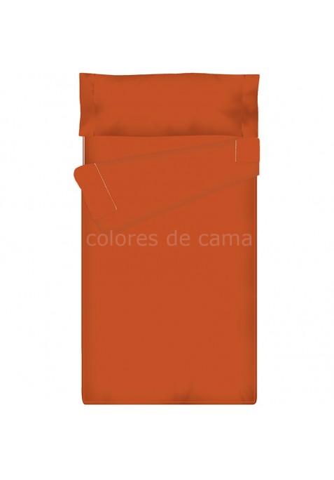 Prêt à dormir Zippé et Extensible - UNI TUILE - 132 x 195 x 12 cm - Avec Formes Spéciales - Couette 4 saisons
