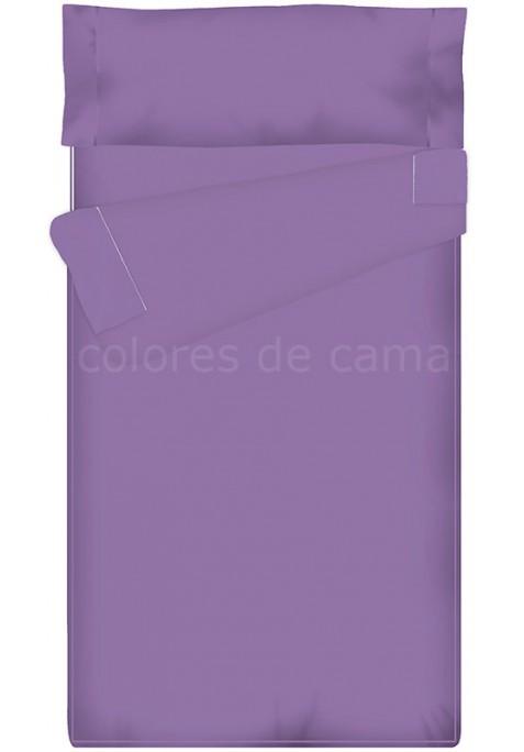 Prêt à dormir Zippé et Extensible - UNI LILAS - 144 x 200 x 14 cm - Avec Formes Spéciales - Sans Couette