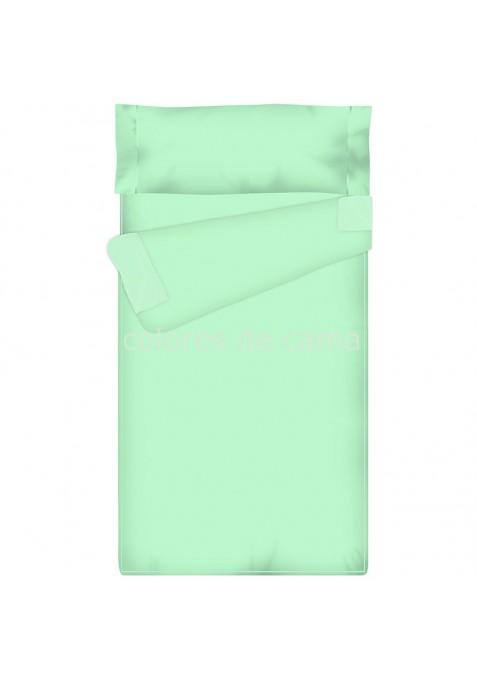 Prêt à dormir Zippé et Extensible - UNI ÉMERAUDE - 144 x 200 x 14 cm - Avec Formes Spéciales - Sans Couette