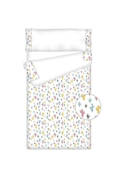 Prêt à Dormir Zippé et Extensible Coton FOXY LAND PAILLE - 124 x 180 x 13 cm - Avec Formes Spéciales et Couette 4 saisons