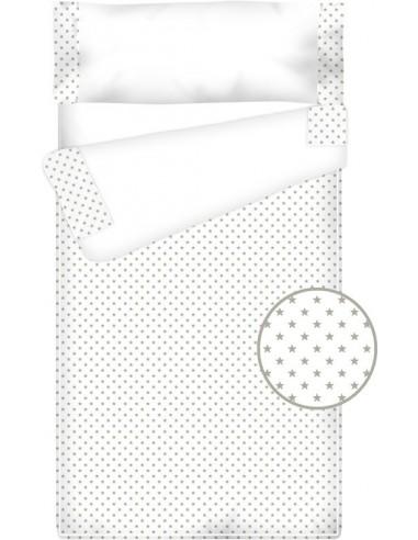 Prêt à dormir Zippé et Extensible Coton et Piqué – ESTRELLAS gris