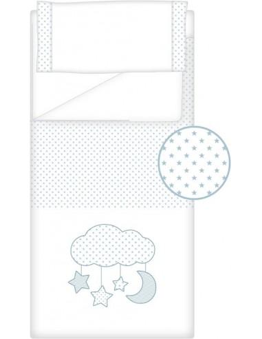 Prêt à Dormir Zippé Non-Extensible Coton et Piqué – Dpkes CANDY bleu