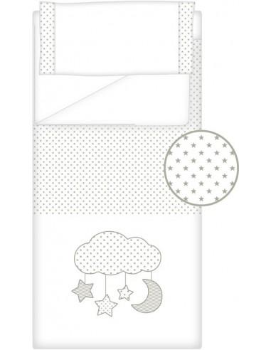 Prêt à Dormir Zippé Non-Extensible Coton et Piqué – Dpkes CANDY gris