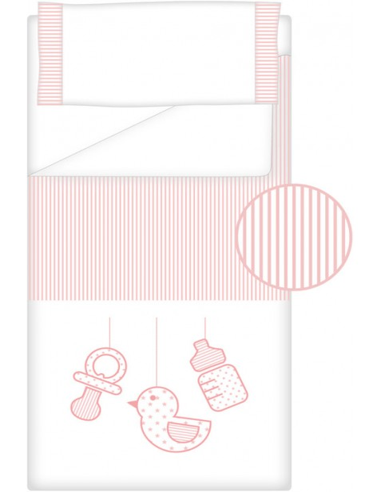 Prêt à Dormir Zippé Non-Extensible Coton et Piqué – Dpkes SWEET rose