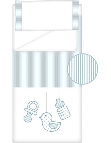 Prêt à Dormir Zippé Non-Extensible Coton et Piqué – Dpkes SWEET bleu