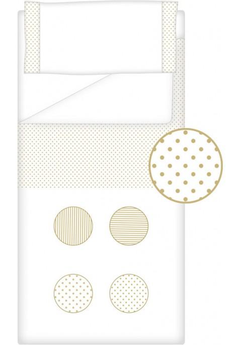 Prêt à Dormir Zippé Non-Extensible Coton et Piqué – Dpkes FUNNY sable