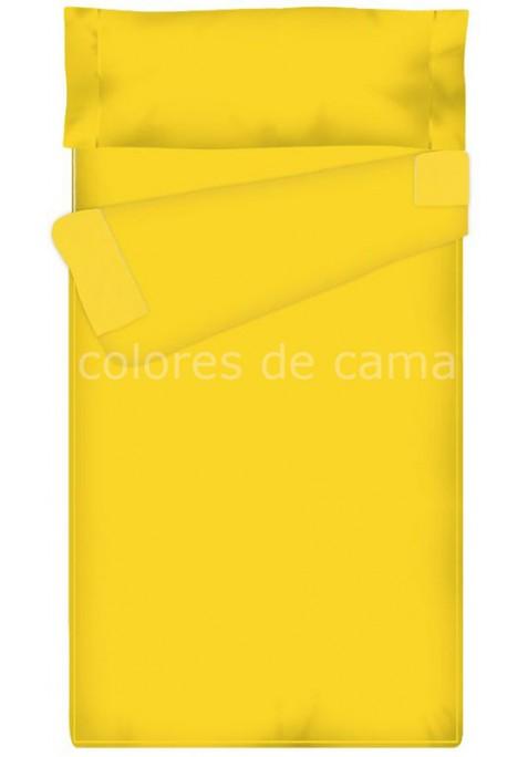 """""""Prêt à dormir"""" extensible et zippé - UNI jaune"""
