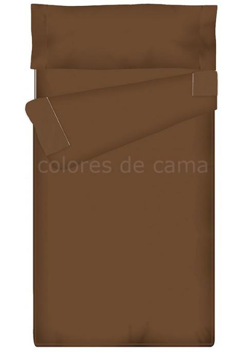 Prêt à dormir Zippé et Extensible Avec Forme Spéciale - UNI marron chocolat - 138 x 200 cm - Couette 100 gr/m2