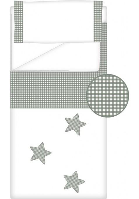 Prêt à Dormir Zippé Non-Extensible Coton et Vichy Carré – Dpkes STELLA gris