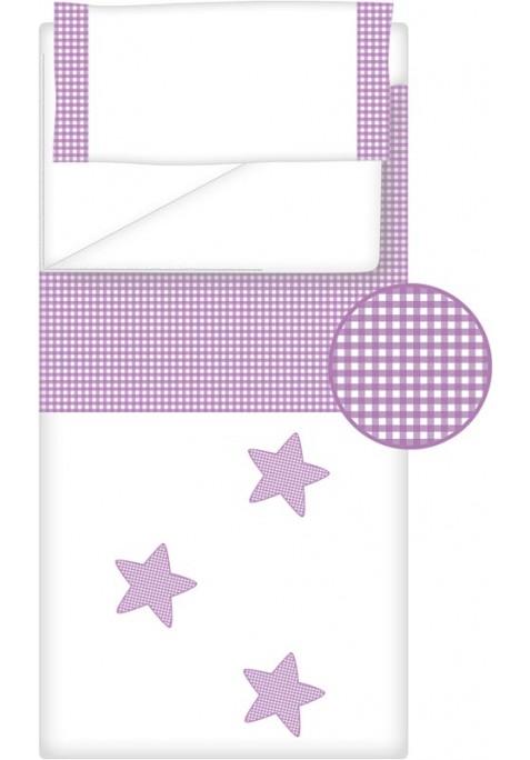 Prêt à Dormir Zippé Non-Extensible Coton et Vichy Carré – Dpkes STELLA lilas