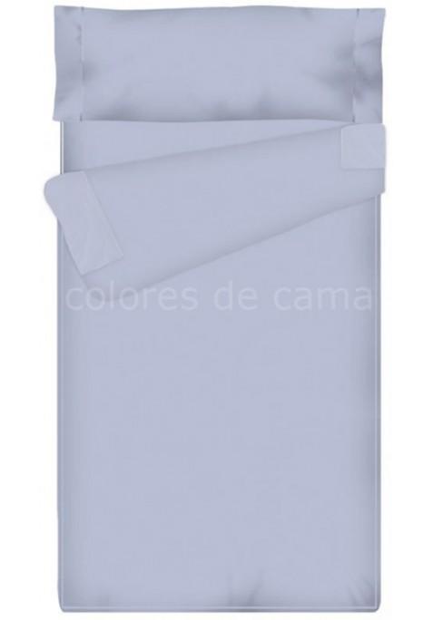 Prêt à dormir Zippé et Extensible Avec Forme Spéciale - Uni Bleu Clair - 80 x 190 x 11 cm - Couette 250 gr/m2