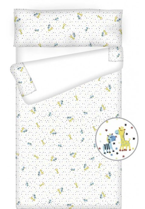 Prêt à dormir bébé zippé et extensible - FRIENDS blanc