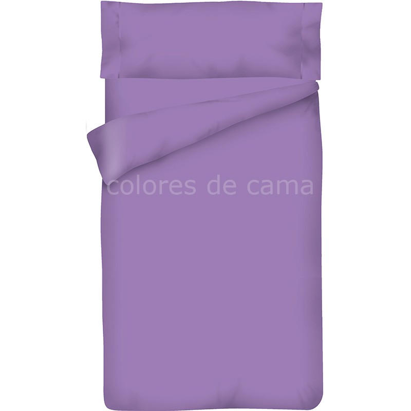 Housse de couette lilas unie taie d oreiller for Housse couette unie