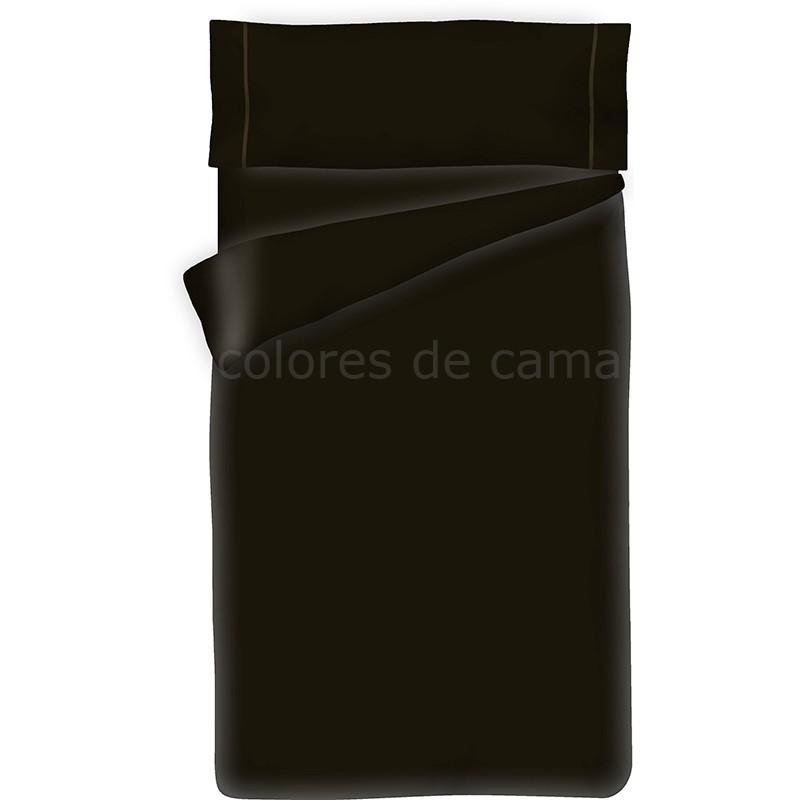 parure de couette noir unie housse de couette taie d oreiller. Black Bedroom Furniture Sets. Home Design Ideas