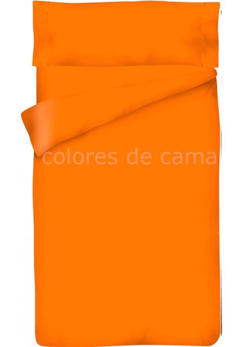 Parure de Couette Orange Unie - Housse de Couette + Taie d'Oreiller