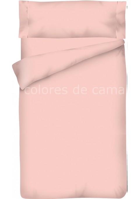 Parure de Couette Rose Unie - Housse de Couette + Taie d'Oreiller