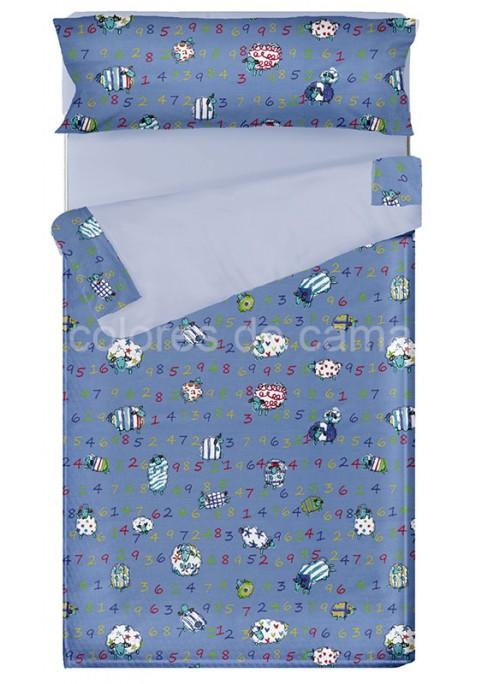 """""""Prêt à dormir"""" extensible et zippé - DIVER bleu"""
