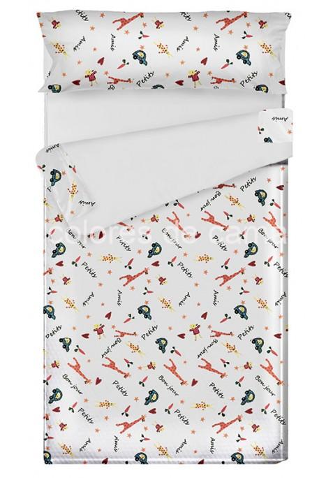 """""""Prêt à dormir"""" extensible et zippé - PETIT AMIS blanc"""