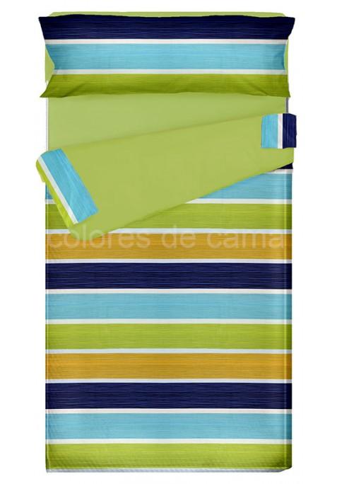 """""""Prêt à dormir"""" extensible et zippé - ALBA bleu"""