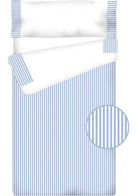 Prêt à Dormir Zippé et Extensible Coton – VICHY RAYURE bleu clair