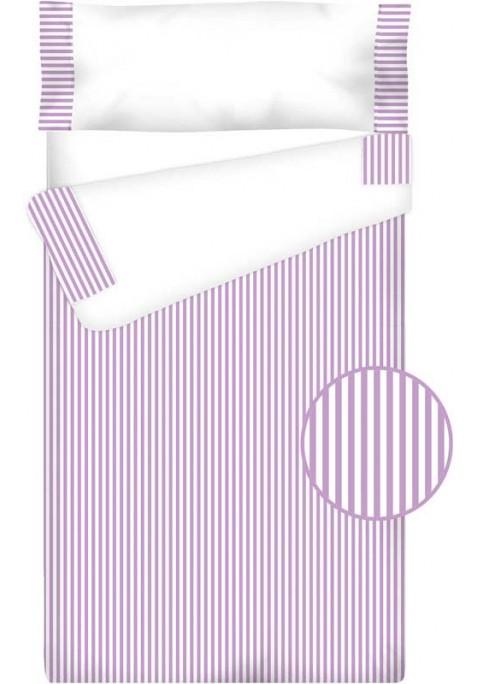 Prêt à Dormir Enfant Zippé Coton – VICHY RAYURE lilas