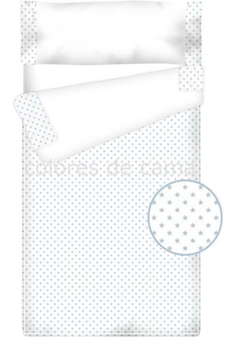 Prêt à Dormir Enfant Zippé Coton et Piqué – ESTRELLAS bleu