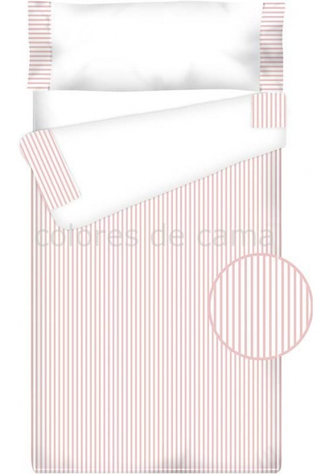 Prêt à Dormir Enfant Zippé Coton et Piqué – RAYAS rose