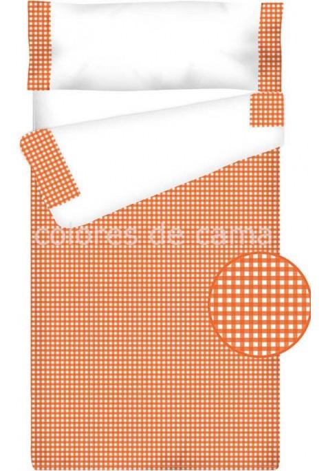 Prêt à Dormir Enfant Zippé Coton – VICHY CARRÉ orange