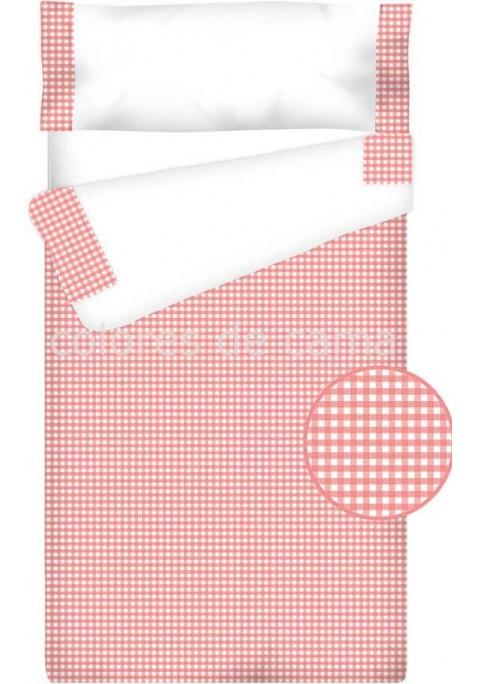 Prêt à Dormir Enfant Zippé Coton – VICHY CARRÉ rose