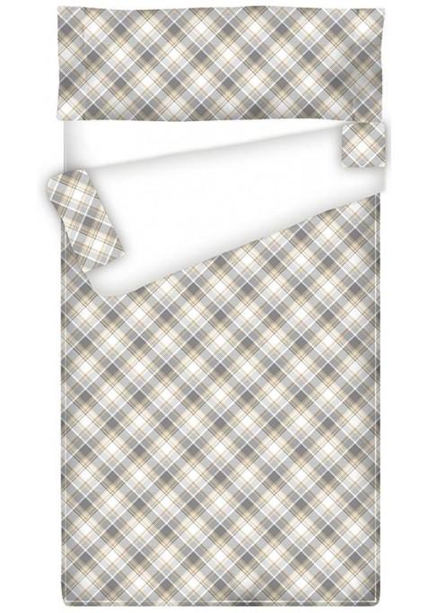 Prêt à Dormir Zippé et Extensible Coton CARRÉ MADRAS CAMEL
